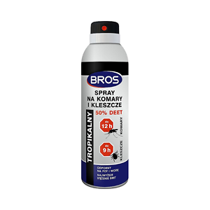 BROS Spray na komary i kleszcze 50% DEET 180ml